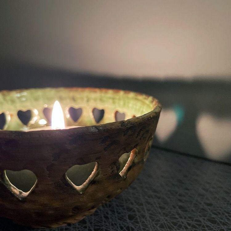 Skål/ljusstake i keramik (liten) - Tolla