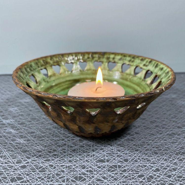 Skål/ljuslykta i keramik (stor) - Tolla