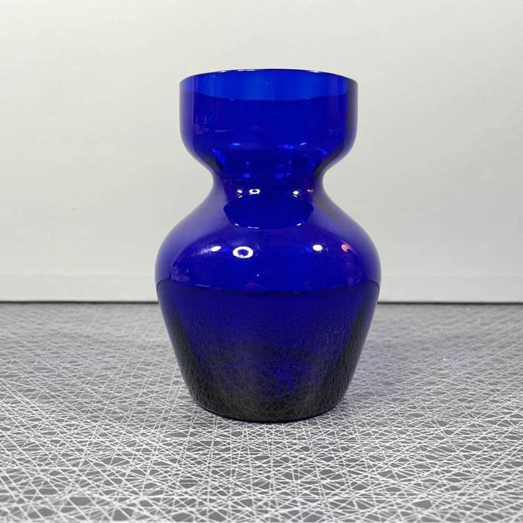 Blå hyacintvas i glas