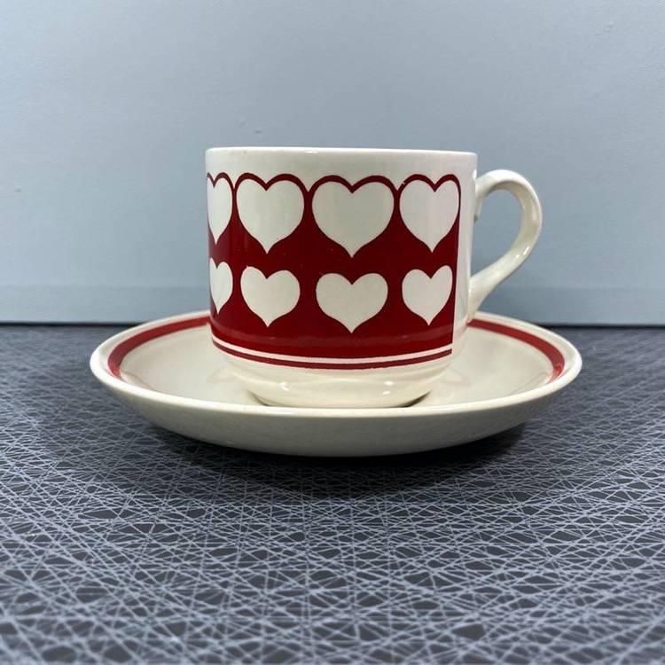 Kaffe-/tékopp, hjärtan - Cartwrights England