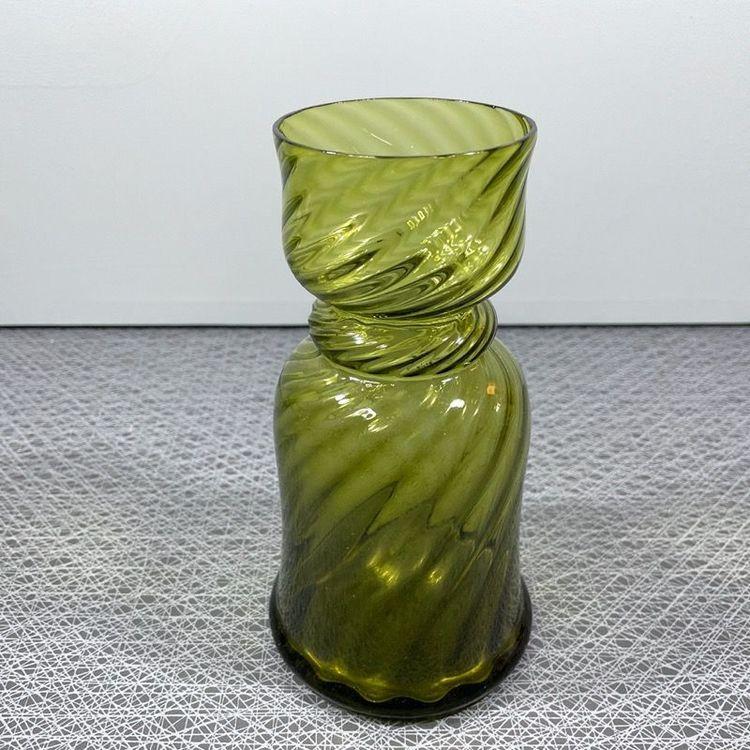 Hyacintvas - grönt glas