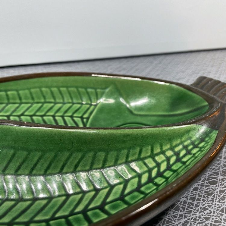 Fiskfat i grön keramik - Gabriel keramik