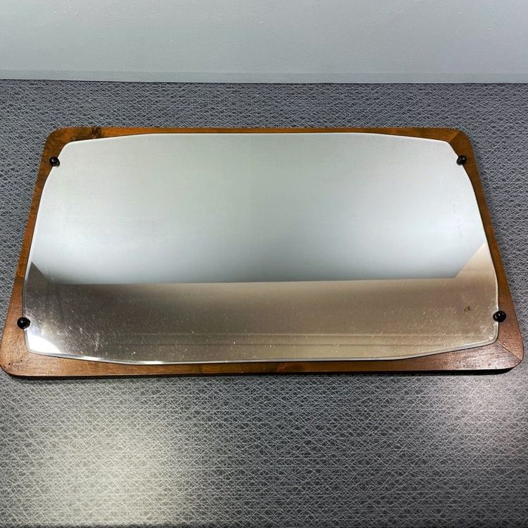 Äldre spegel i trä - 50-tal