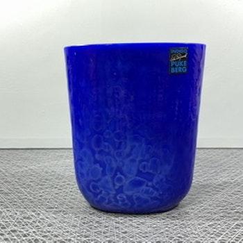 Vas - blått glas Pukeberg