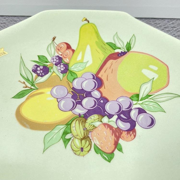 Fruktfat samt assietter - Figgjo Flint, Norge dekor fat