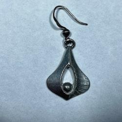 Vintage örhängen, tenn/silver - Börje Tennung
