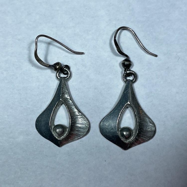 Örhängen, tenn/silver - Börje Tennung par