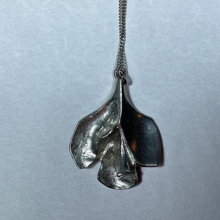Vintage halsband, tenn - Börje Tennung med kedja