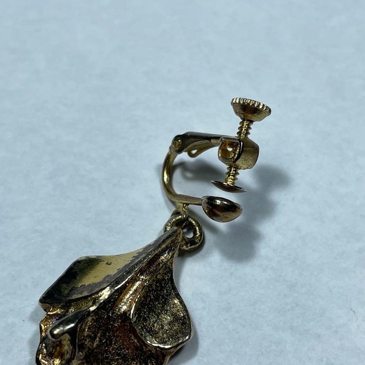 Vintage örhängen, förgyllda - Börje Tennung närbild