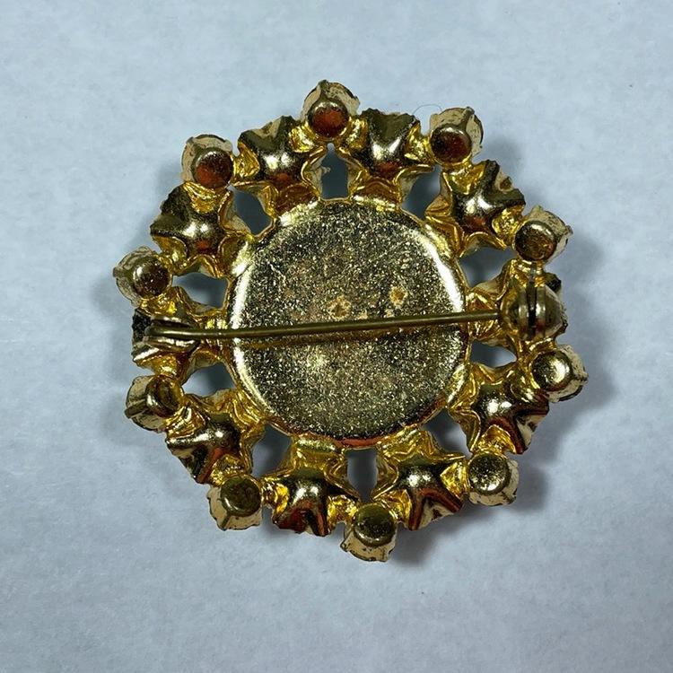 Vintage Brosch - Glasstenar baksida