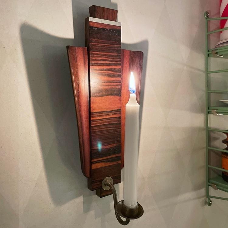 Ljuslampetter - Teak / jakaranda tänd perspektiv