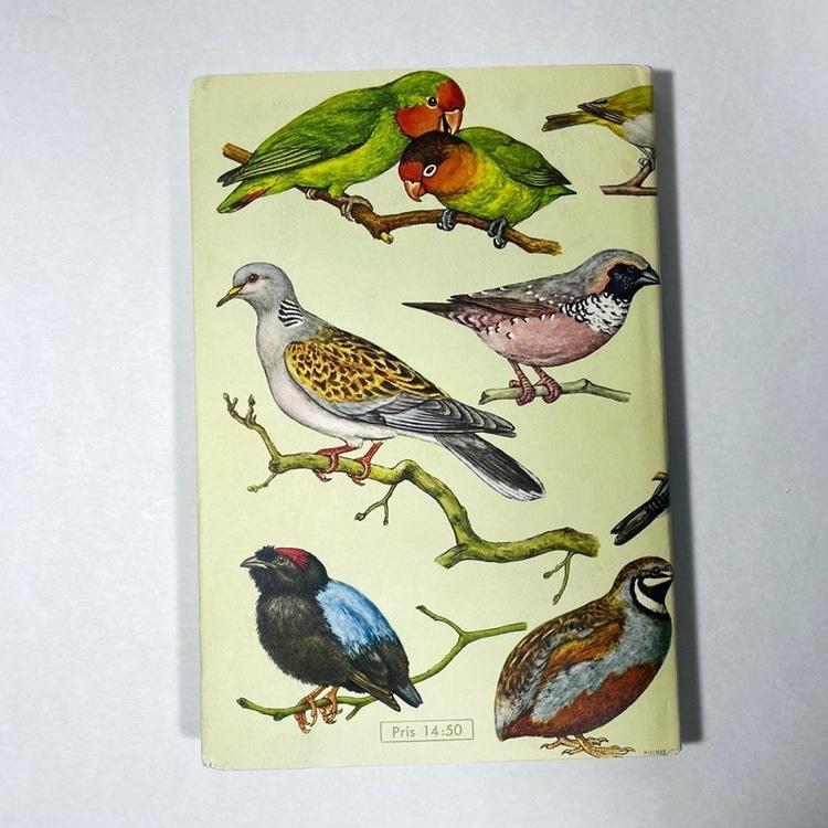 Bok, Burfåglar i färg - 1964 baksida
