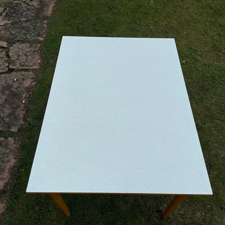 Köksbord utfällbart - Perstorpsskiva, ljusgrå ihopfällt