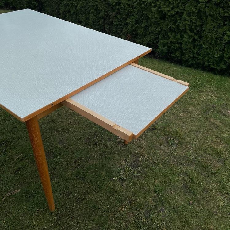 Köksbord utfällbart - Perstorpsskiva, ljusgrå bordsskiva