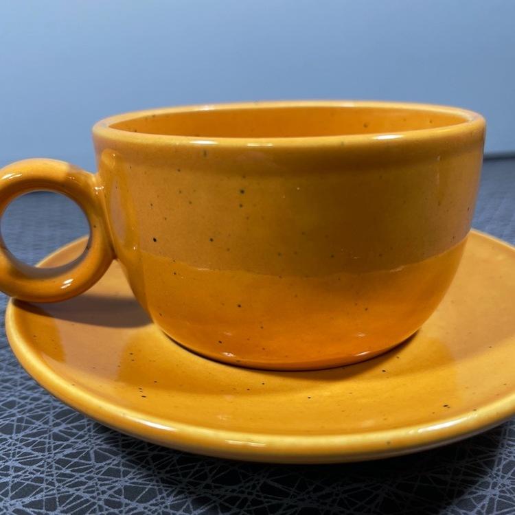 Kaffekopp, Primula - Stig Lindberg, Gustavsberg närbild kopp och fat