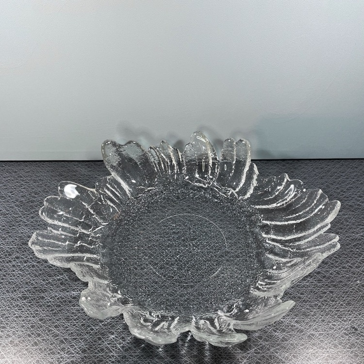 Glasfat, Barock, vitt glas (stort) - Christer Sjögren - Lindshammar Glasbruk