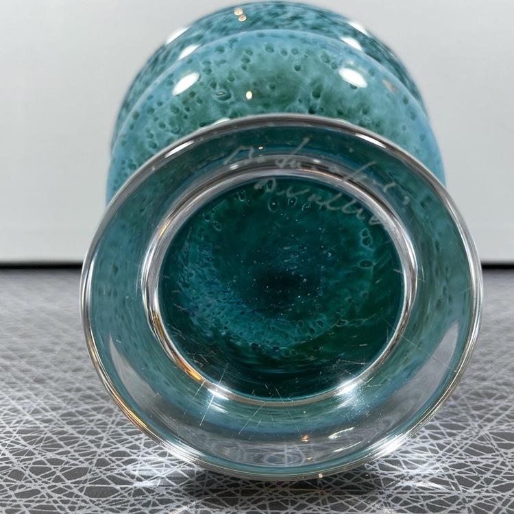 Glasskål på fot, Bertil Vallien - Boda, signerad