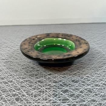 Liten skål/ ljusfat grön - Uppsala Ekeby
