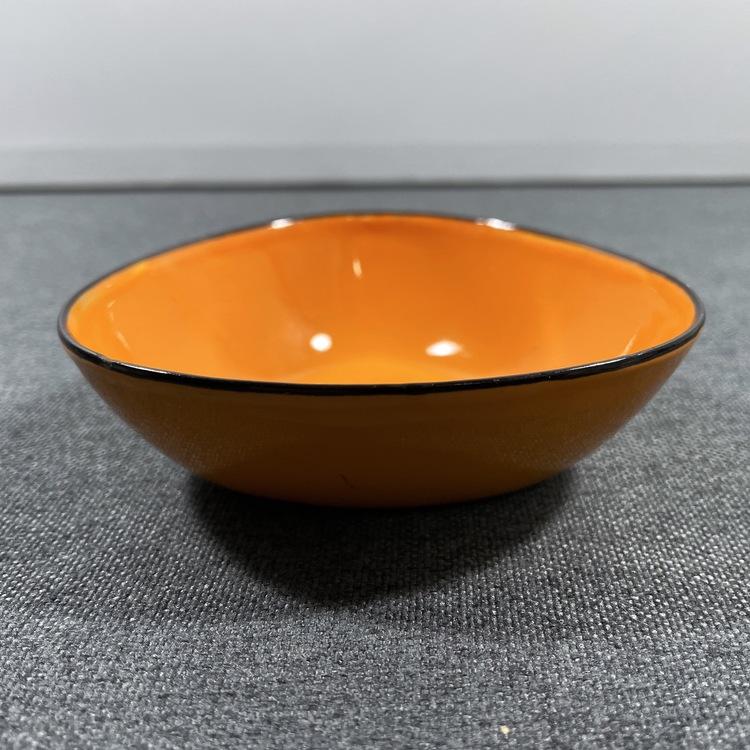 Orange emaljskål - Arne Erker, Kockum