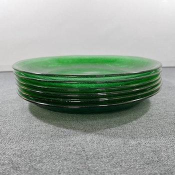 Gröna glasassietter i glas - Arcoroc, Frankrike