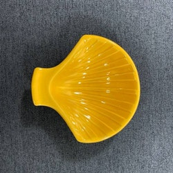 Snäckskål, gul - Bo Fajans
