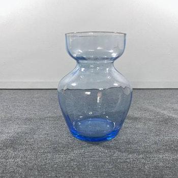 Lökvas - blått handblåst glas