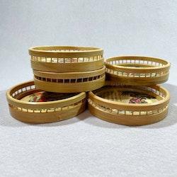 Glasunderlägg 70-tal, Bambu