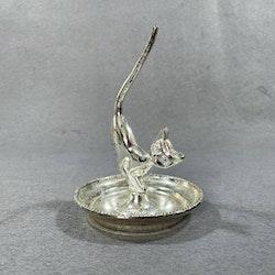 Ringhållare / smyckesskål katt - England