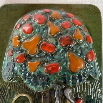 Väggtavla träd, keramik - JIE Gantofta