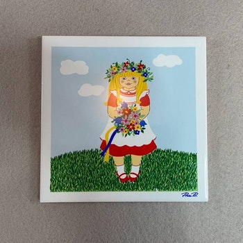 Kakelplatta / grytunderlägg - Pia Rönndahl, Gustavsberg