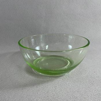 Glasskål - grönt uranglas