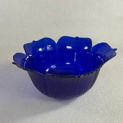 Stor blå glasskål - Japan