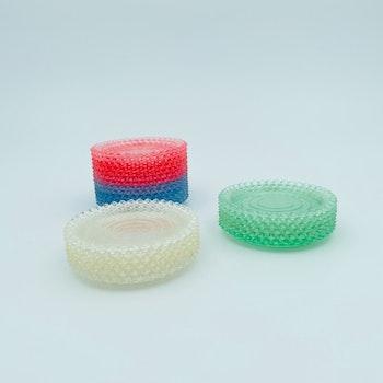 Retro glasunderlägg, 50-tal, plast - olika färger