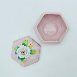 Lockburk, rosa - Porslin