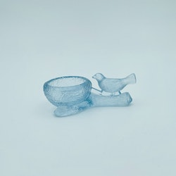 Fågel saltkar - Lindshammars glasbruk