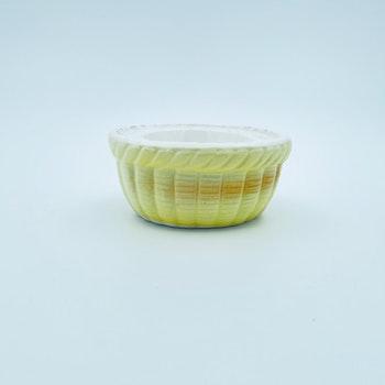 Retro äggkopp, gul - Porslin