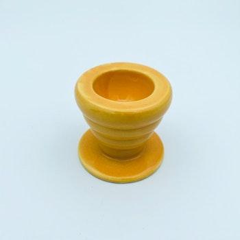 Retro äggkopp - Orange, porslin
