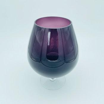 Stort glas/ konstglas lila