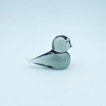 Grå fågel, konstglas - Ronneby glasbruk
