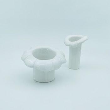 Två små vaser/ ljuslyktor
