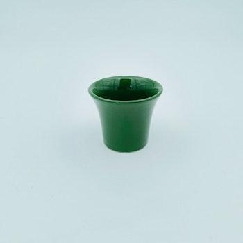 Retro äggkopp - grön keramik