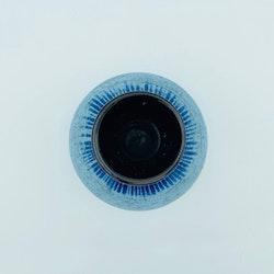 Keramikvas blå mindre