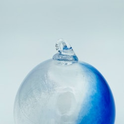 Retro glaskula/ fönstersmycke blå
