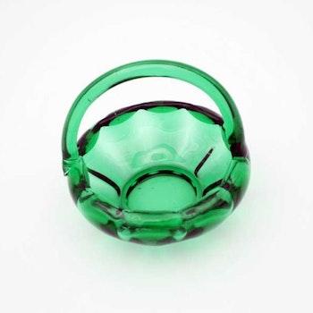 Glasskål, grön - Weck, W. Stenberg, Gullaskruf