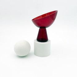 Röd glasvas - Reijmyre