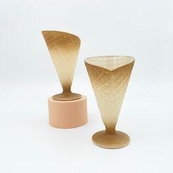 Dessertformar/ glasskoner i glas från Italien