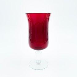Röd glasvas - Reijmyre glasbruk