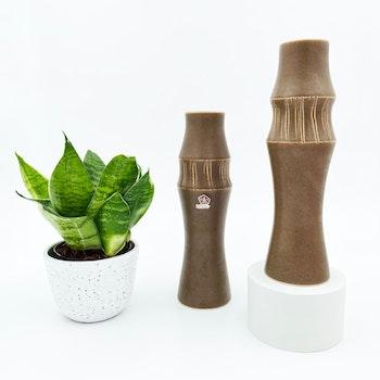 Brun vas i keramik - Syco keramik