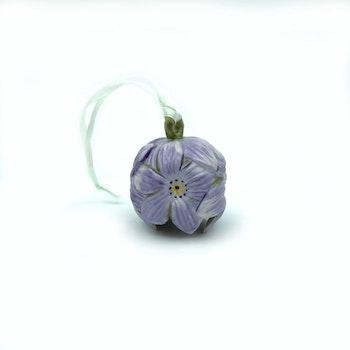 Stor blomklocka - lila porslin