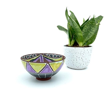 Keramikskål - troligtvis Laholm keramik